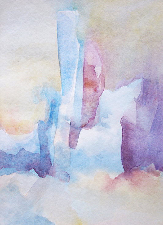 Watercolour 'Listening to Scriabin'
