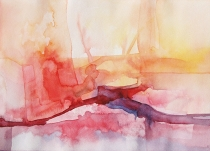 Watercolour 'Lake in Autumn'