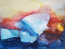 Watercolour 'Rock of Light'