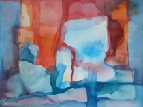 Watercolour 'Window in the Sky'